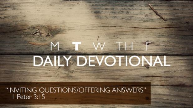Tuesday Devotional