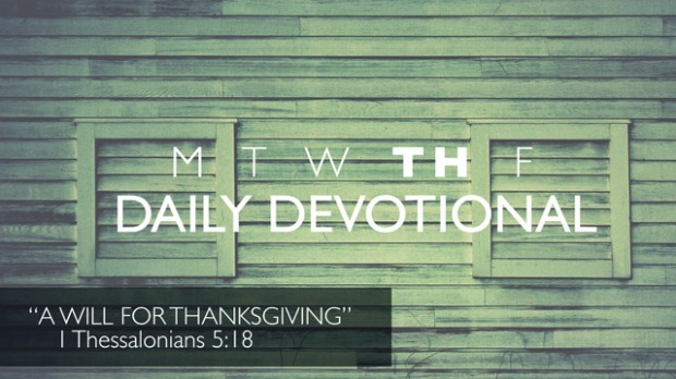 Thursday Devotional